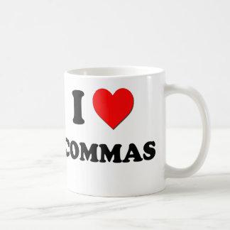 I love Commas Basic White Mug
