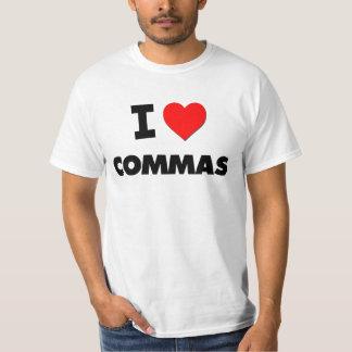 I love Commas Tshirt