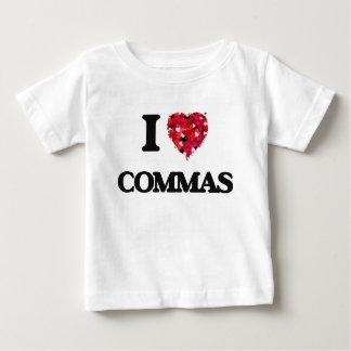 I love Commas T-shirts