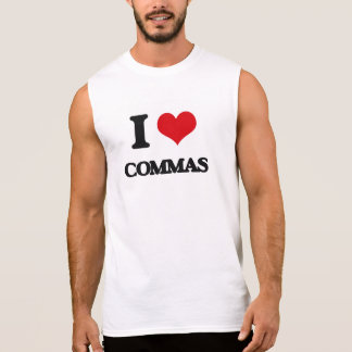 I love Commas Sleeveless Tee