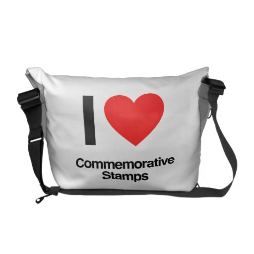 i love commemorative stamps courier bags