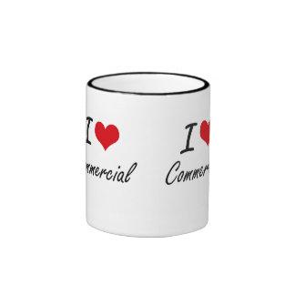 I love Commercial Artistic Design Ringer Mug