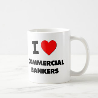 I Love Commercial Bankers Coffee Mugs