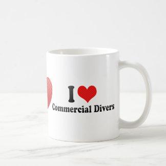 I Love Commercial Divers Mug