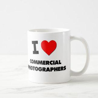I Love Commercial Photographers Basic White Mug