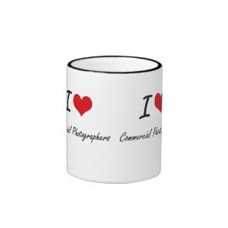 I love Commercial Photographers Ringer Mug