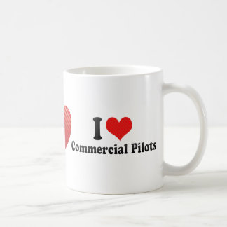 I Love Commercial Pilots Coffee Mugs