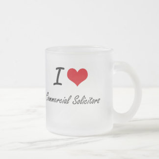I love Commercial Solicitors Frosted Glass Mug