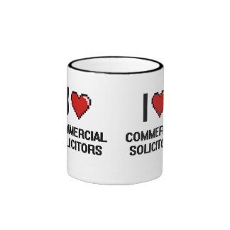 I love Commercial Solicitors Ringer Coffee Mug
