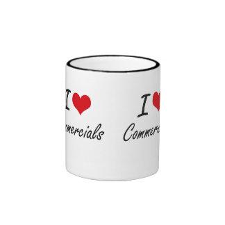 I love Commercials Artistic Design Ringer Mug