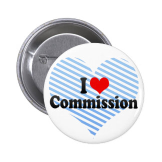 I Love Commission 6 Cm Round Badge