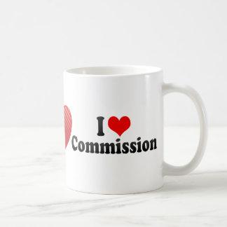 I Love Commission Basic White Mug