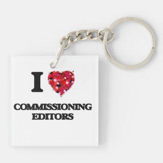 I love Commissioning Editors Double-Sided Square Acrylic Key Ring