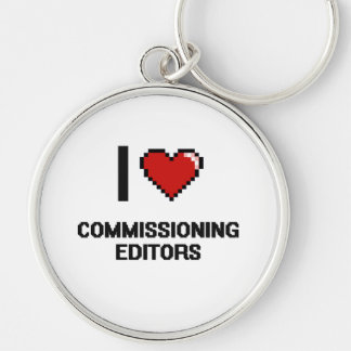 I love Commissioning Editors Silver-Colored Round Key Ring