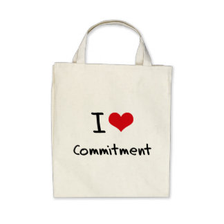 I love Commitment Tote Bags