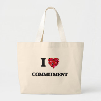 I love Commitment Jumbo Tote Bag
