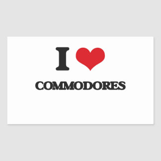 I love Commodores Rectangle Stickers