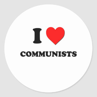 I love Communists Stickers