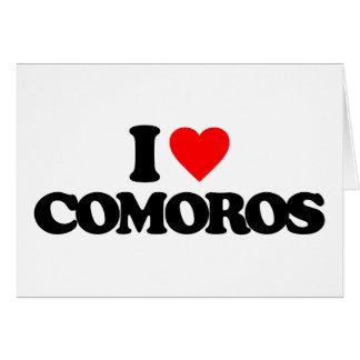I LOVE COMOROS GREETING CARD