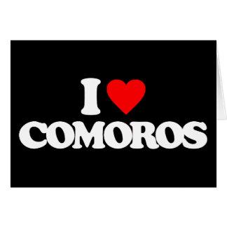 I LOVE COMOROS GREETING CARDS