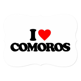 I LOVE COMOROS CUSTOM INVITATIONS