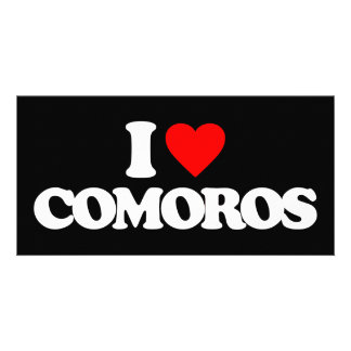 I LOVE COMOROS PERSONALIZED PHOTO CARD