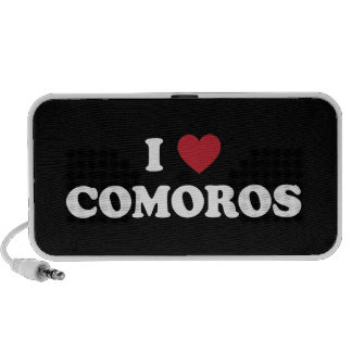 I Love Comoros Notebook Speaker