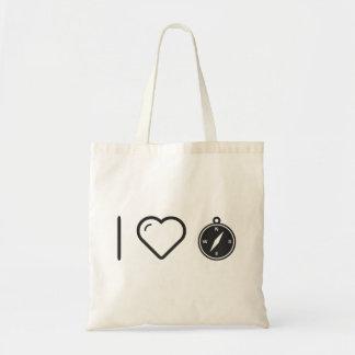 I Love Compass App Budget Tote Bag
