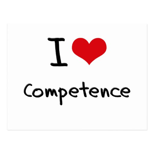 I love Competence Post Cards