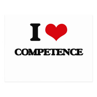 I love Competence Post Card