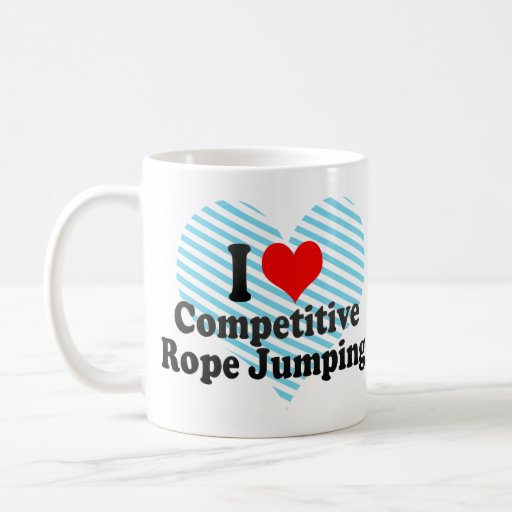 I love Competitive Rope Jumping Basic White Mug