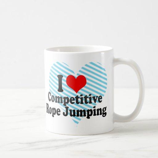 I love Competitive Rope Jumping Basic White Mug