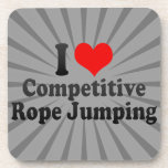 I love Competitive Rope Jumping Beverage Coasters
