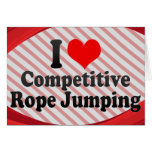 I love Competitive Rope Jumping Stationery Note Card