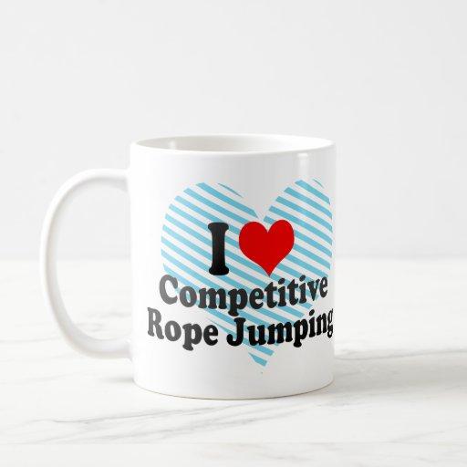 I love Competitive Rope Jumping Classic White Coffee Mug