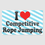 I love Competitive Rope Jumping Stickers