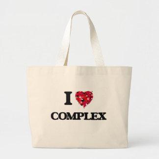 I love Complex Jumbo Tote Bag