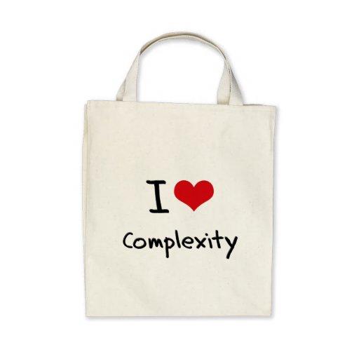 I love Complexity Canvas Bag