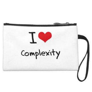 I love Complexity Wristlet Purses