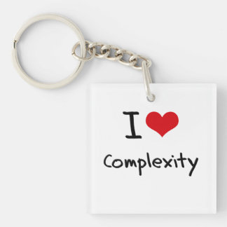 I love Complexity Single-Sided Square Acrylic Key Ring