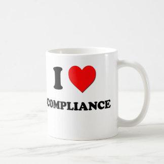I love Compliance Basic White Mug