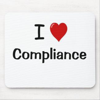 I Love Compliance I Heart Compliance Mousepad