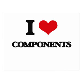 I love Components Post Card