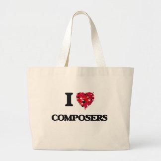 I love Composers Jumbo Tote Bag