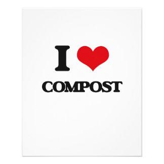 I love Compost 11.5 Cm X 14 Cm Flyer