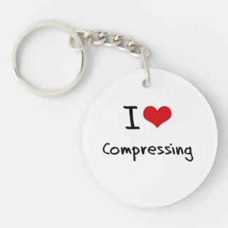 I love Compressing Single-Sided Round Acrylic Key Ring