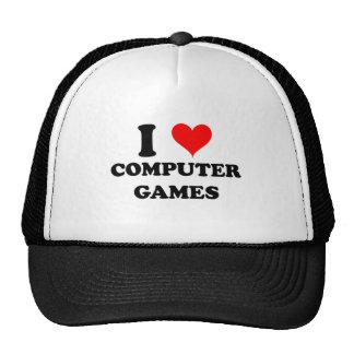 I Love Computer Games Hats