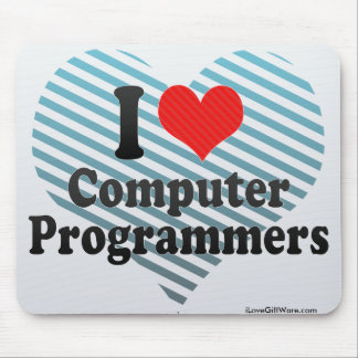 I Love Computer Programmers Mouse Pad