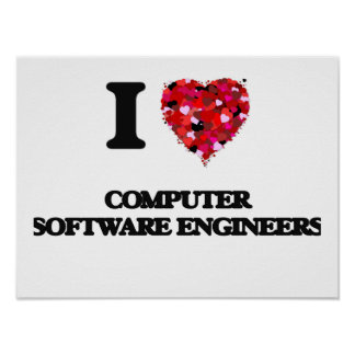 I love Computer Software Engineers Poster