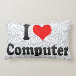 I love Computer Throw Pillows